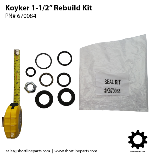 "Koyker Loader Rebuild Kit for 1-1/2"" Cylinders"
