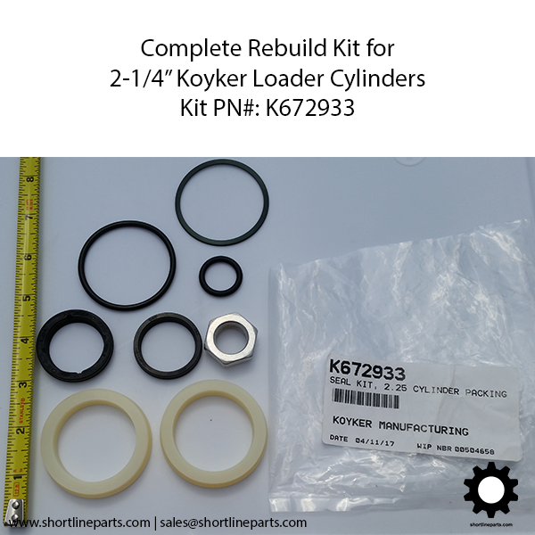 All Seals Needed for Rebuilding Lift and Bucket Cylinders on Koyker Loader Models 180 185 190 195 and 220