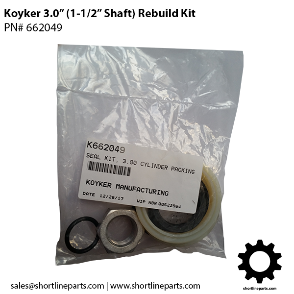 "3"" Rebuild Kits Koyker Loader Parts"