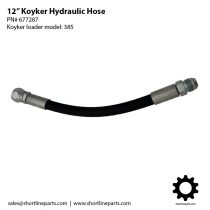 Koyker Loader Hydraulic Hose - 12-Inch - Part Number 677287