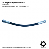 "14"" Hydraulic Hose for Koyker Loader Models 145, 155, 160, and 165 - 672287"