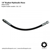 "14"" Hydraulic Hose for Koyker Loaders 120 and 125 - 673936"