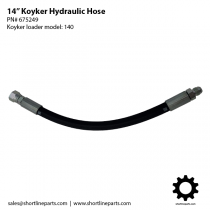 14-Inch Hydraulic Hose for Koyker Loader 140 Cylinders - OEM Part Number 675249