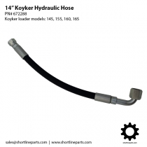 "14"" Hydraulic Hose for Koyker Loaders 145, 155, 160, and 165 - 672288"
