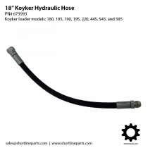 "18"" Hydraulic Hose for Koyker Loader Models 180, 185, 190, 195, 220, 445, 545, and 585 - 673993"