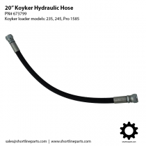"20"" Hydraulic Hose for Koyker 235, 245, Pro 1545, and Pro 1585 - 673799"