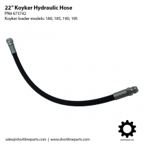 "22"" Hydraulic Hose for Koyker Loaders 180, 185, 190, and 195 - Part Number 673742"