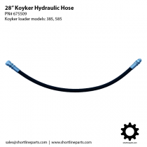 "28"" Hydraulic Hose for Koyker Loader Models 385 and 585 - 675509"
