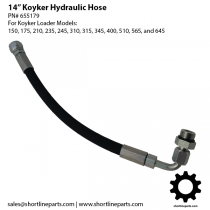 "Koyker 14"" Hydraulic Hose for Loaders 150, 175, 210, 235, 245, 310, 315, 345, 400, 510, 565, and 645"