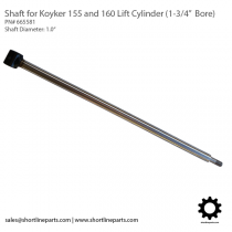 "Koyker 155 and 160 Lift Cylinder Shaft (For 1.75"" Bore Cylinder) - 665581"