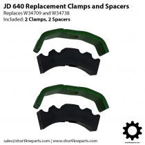 JD 640 Farm Loader Parts - Oil Line Clamps - Replace W34709 and W34738