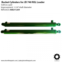 Replacement Bucket Cylinders for John Deere 740 NSL Front End Loader (Set of 2) - Replaces JD AH211259