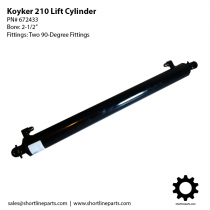 "Koyker 210 Lift Cylinder - 2-1/2"" Bore - 90-degree Fittings - 672433"