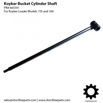 "Koyker 155 and 160 Bucket Cylinder Shaft (For 1-3/4"" Bore Cylinder) - 665591"