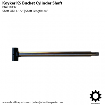 Koyker K5 and 500 Loader Bucket Cylinder Shaft - 10137