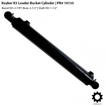 "Koyker K5 and 500 Loader Bucket Cylinder - 2-1/2"" Bore - 10135"