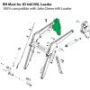 Replacement RH Mast for John Deere 640 NSL Loader