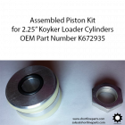 """Part Number K672935 - 2-1/4"""" Piston with Seals for Koyker Cylinders"""