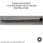 """New Chrome Shaft for Koyker 150 Lift Cylinder with 1-3/4"""" Bore"""