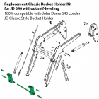 John Deere 640 Loader Bucket Holder Kit