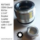 """K675683 OEM Gland for Koyker Loader Cylinders with 2-3/4"""" ID and 1-3/4"""" rod OD"""
