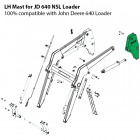 Left Hand Mast Upright for John Deere 640 Loader without Self-Leveling